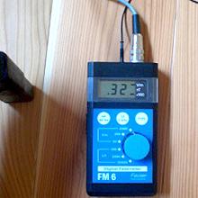 一般的な住宅の床、壁からの電磁波発生状況