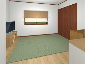 簡単!置き畳でくつろぎ空間。