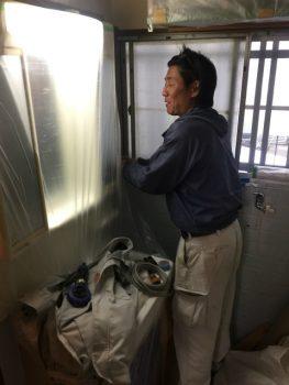 呉市 トイレ 養生中