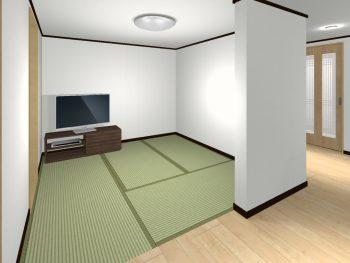 壁のある畳スペース