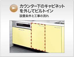 カウンター下のキャビネットを外して、食洗機を設置する場合