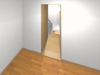 窓糊の失敗 ドアの位置