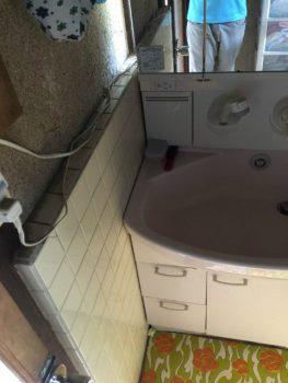 6タイルの浴室からユニットバスの施工事例