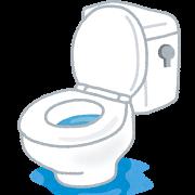 トイレ水漏れ イラスト