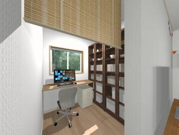 ②1坪の書斎