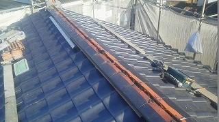 屋根平面部分施工完了