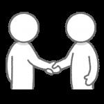 握手する人