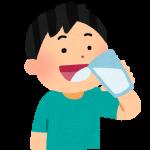 水を飲む イラスト