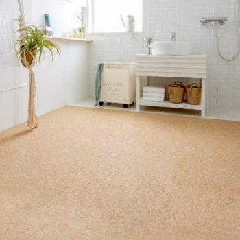 滑りにくい洗面所の床②