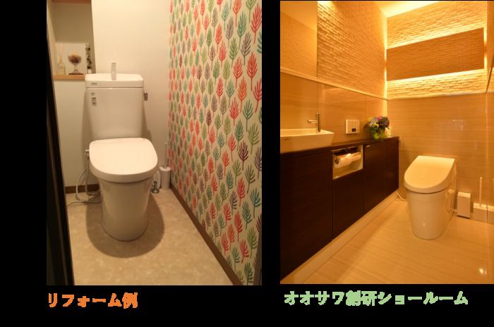 トイレ リフォーム例 オオサワ創研ショールーム