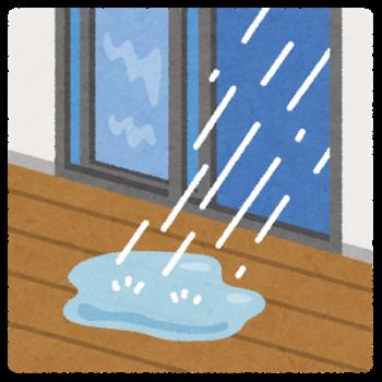 雨 梅雨 雨漏り オオサワ創研へ
