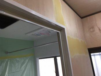 呉市 お風呂リフォーム 壁復旧