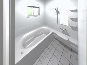 浴室①大きなタイル