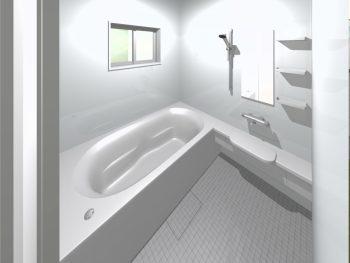 浴室②小さなタイル