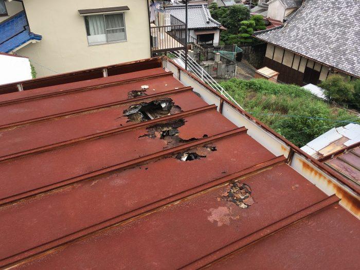 板金屋根のカバー工法