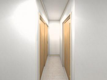 廊下を挟んだ引戸