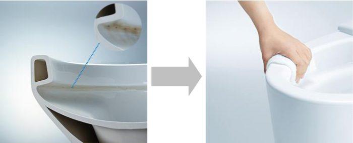 呉市 トイレ フチ裏の掃除