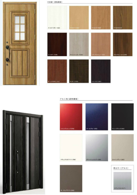 玄関扉の種類