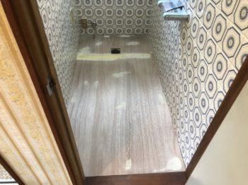 トイレ ベニヤ板
