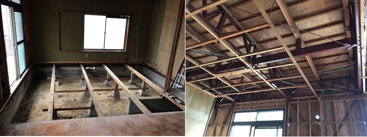天井、床 解体