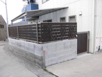 ブロックの上にフェンスをつけることは出来る?