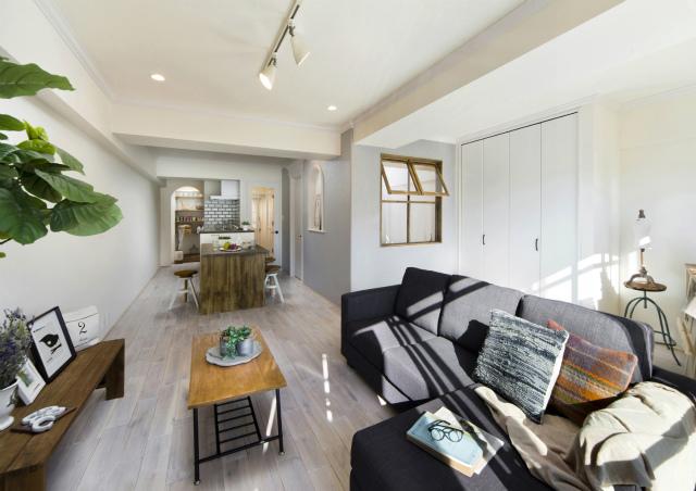 【リノベーション事例】築年数を重ねた1LDKのマンションを明るく開放的な空間へとリノベーション!