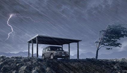 大事な車を守る!強風にも耐えうる業界最高クラスのカーポート